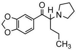 Picture of 3,4-Methylendioxy-pyrovalerone.HCl
