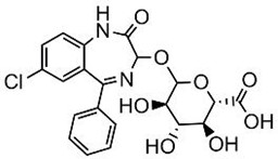 Picture of Oxazepam-glucuronide.TFA