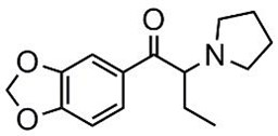 Picture of 3',4'-Methylenedioxy-α-pyrrolidinobutyrophenone.HCl